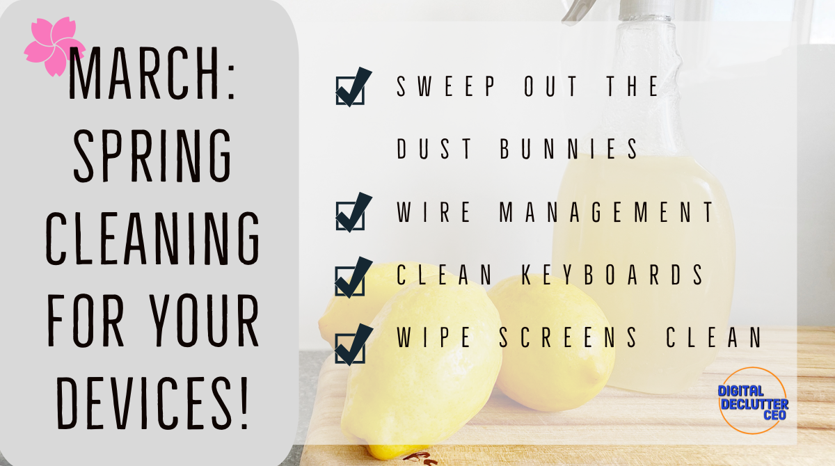 Fresh lemon image evoke a fresh scent for March Spring Cleaning Checklist